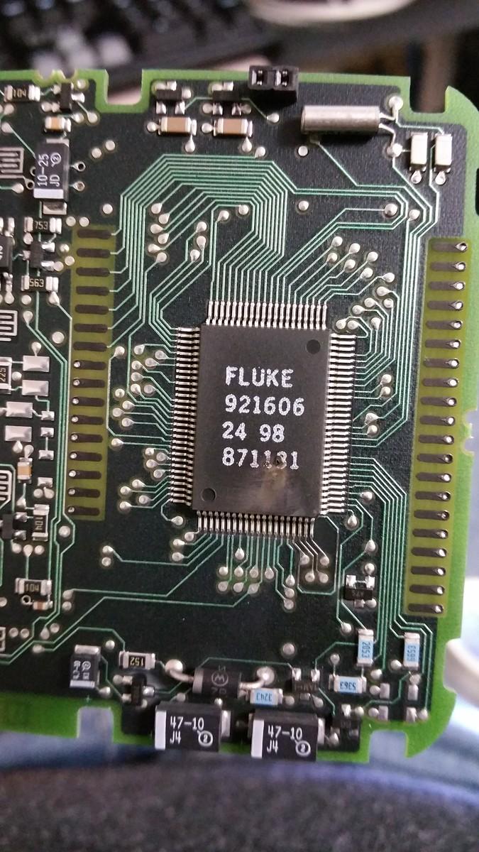 Fluke 87 III burned processor - Page 1